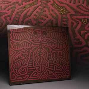 CH878 時代物 パナマ サンブラス諸島 モラ クナ族の民族衣装・民俗衣装 縦40.5cm 布裂/裂帛 裂額・額装