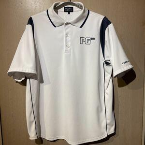 パーリーゲイツ PEARLYGATES ポロシャツ GOLF ゴルフ 半袖 サイズ 6 XL 白 ネイビー ゴルフウエア