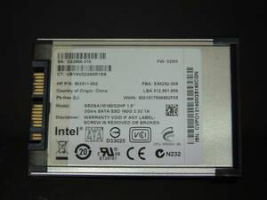 【検品済み/使用589時間】INTEL SSD 160GB 1.8インチ SSDSA1M160G2HP 管理:c-84