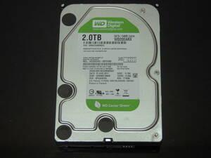 【検品済み/使用71時間】WD Green 2TB HDD 3.5インチ WD20EARX 管理:b-60