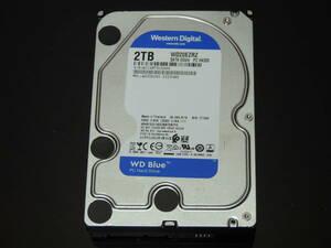 【検品済み/使用801時間】WD Blue 2TB HDD 3.5インチ WD20EZRZ 管理:b-62