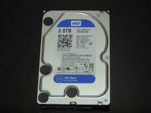 【検品済み】WD Blue 3TB HDD 3.5インチ WD30EZRZ (使用18188時間) 管理:j-18