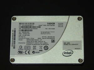 【検品済み】INTEL SSD 320series 160GB 2.5インチ SSDSA2BW160G3H (使用1097時間) 管理:b-22