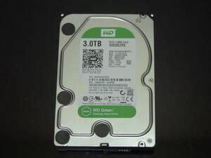 【検品済み】WD 3TB HDD 3.5インチ WD30EZRX (使用7322時間) 管理:j-63