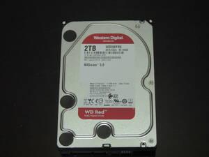 【検品済み】WD 2TB HDD 3.5インチ WD20EFRX (使用14281時間) 管理:j-82