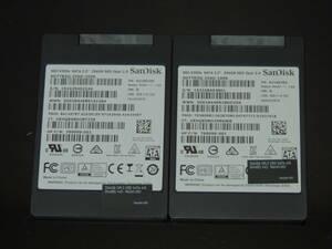 【2台まとめ売り/検品済み】SanDisk SSD X300s 256GB SD7TB3Q-256G-1006 (使用26711時間・使用29945時間) 管理:m-81