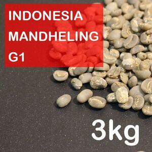 【自家焙煎】スペシャルティコーヒー生豆 インドネシア・マンデリンG1 3kg