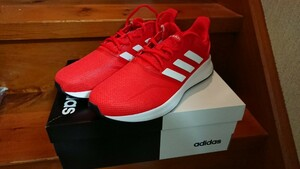 adidas アディダス FALCONRUN DBG95 F36202 ランニング ジョギングシューズ メンズ アクティブレッド