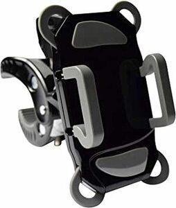 0a849黒/灰 G-Parts 自転車スマホホルダー黒/灰 4点固定脱落防止構造 バイクハンドル固