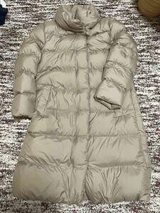 ユニクロ ベージュ ライトウェイトダウンスタンドカラーコート ダウンジャケット XL 大きいサイズ
