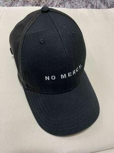 QALB キャップ/FREEサイズ/コットン/黒 ブラック/NO MERCY/セレブ
