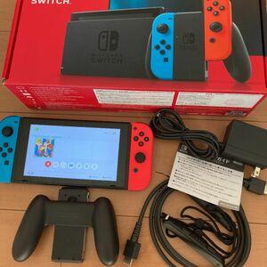 Nintendo Switch JOY-CON(L) ネオンブルー/(R) ネオンレッド 新型本体 中古品 動作品