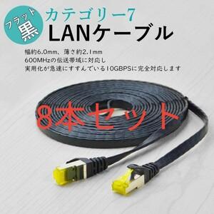 LANケーブル 1m10Gbps/600MHz 金メッキRJ45コネクタ CAT7準拠
