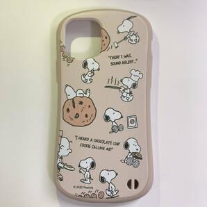 iphone12/12pro iFace型 ストラップ穴付き 耐衝撃 スヌーピー チョコチップクッキー