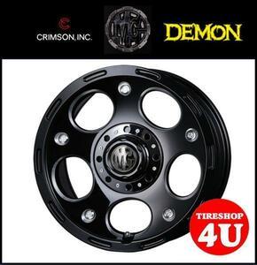 4本セット送料無料 CRIMSON クリムソン マーテルギア MG DEMON デーモン 16X7.0J 6/139.7 TOYO H20 215/65R16 ホワイトレター ハイエース