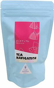 TEA NAVIGATION ティーバッグ 15入 最高級品質業務用・家庭用 紅茶 水出しピーチアップル コールドブリュー