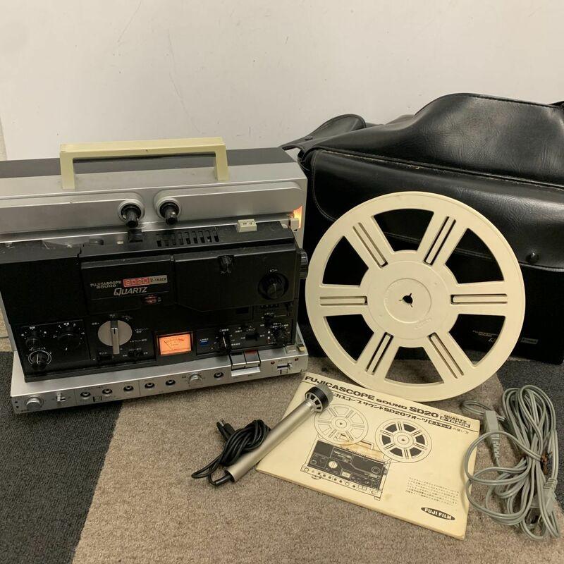 G816-I30-1015 フジカスコープサウンド SD20 クオーツ 8mm 映写機 2トラック フィルムカメラ 通電確認済 ②