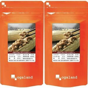 ★送料無料★納豆キナーゼ 約6ヶ月分(2022.12~)(3ヶ月分90カプセル×2袋)オーガランド サプリメント 納豆 ナットウキナーゼ 美容 健康