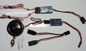 電動 ラジコン 飛行機 マシンガン 機銃音 サウンドユニット LED発光ユニット 大戦機体 RC ゼロ戦 スケール機
