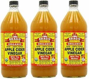 3 Bragg オーガニック アップル サイダー ビネガー 946 ml (3個セット) [並行輸入品]