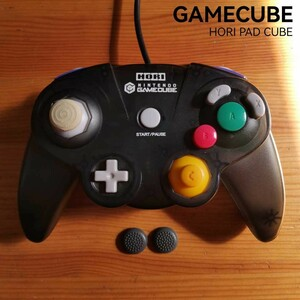 ゲームキューブコントローラー ホリパッドキューブ クリアブラック