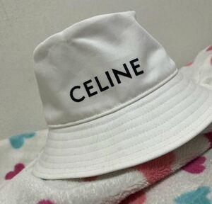 ★CELINE セリーヌ ★極美品★バケット ハット ★ホワイト ★帽子★メンズ★レディース