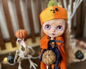 *onu*カスタムブライス ~かぼちゃちゃん~ スポーティーラヴァーフィネス ブライス ネオブライス Blythe customblythe