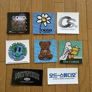 ODSDodo Studio seal 8 sheets Korea designer's brand ODD STUDIO sticker