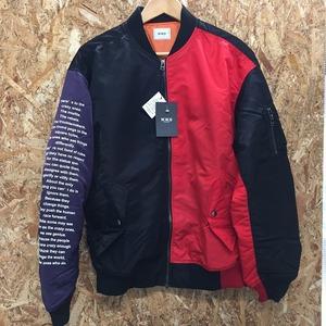 未使用W.W.G WHO'S WHO gallery メンズ ボンバージャケット MA-1 ブラック レッド パープル 表記サイズ:F[jgg]