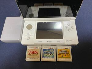 ニンテンドー3DS ピュアホワイト 任天堂 タッチペン任天堂3DS メタリックブルー