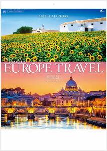 【即決】2022 カレンダー 壁掛け 風景 欧州紀行 ヨーロッパメモカレンダー 12ヵ月カレンダー