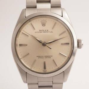 ロレックス オイスターパーペチュアル Ref,1002 ROLEX OYSTER PERPETUAL Cal,1570 ゴールド文字盤 自動巻 メンズ 男性腕時計[863719]