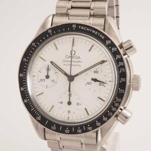 オメガスピードマスターオートマチック Ref,175.0032.1 Cal,1140 OMEGA Speedmaster ホワイト 白 クロノグラフ 腕時計[MM.2890-2.3220J]
