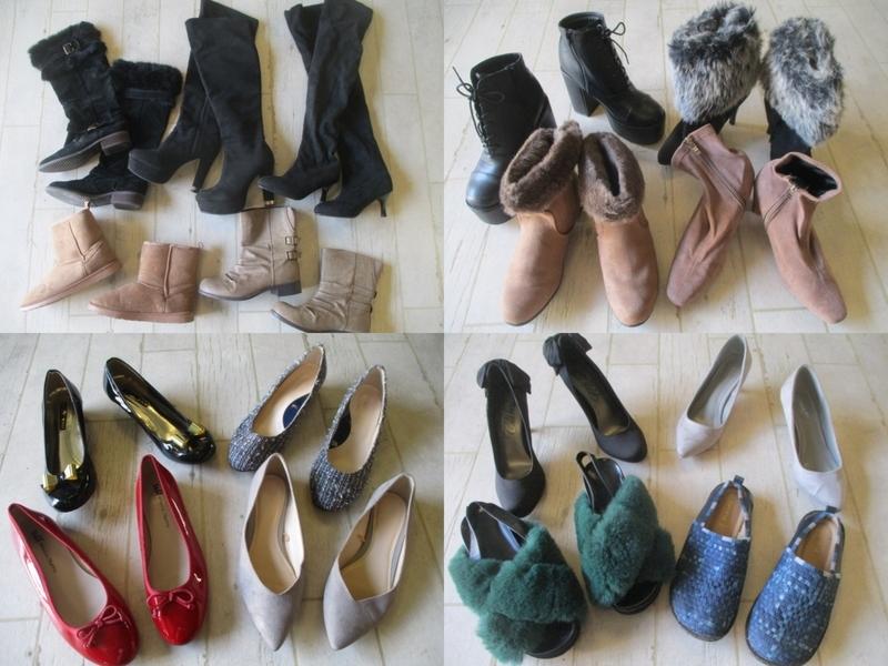 ●レディース 大きいサイズ LLサイズ以上の靴 福袋 まとめて まとめ売り 19点 セット 大量 洋服 古着 仕入れ ●33