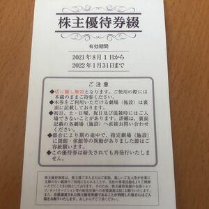 東映 株主優待 太秦映画村 一冊