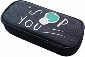 カブ QLZXXY ペンケース ふでばこ ペンポーチ かわいい ビーガン野菜 キャンバス 文房具 小学生 女の子 筆箱 シンプル