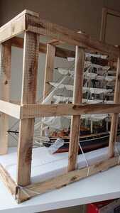 Wooden Model Boat 帆船 カティーサーク CUTTY SARK PAINTED 1/160 全長70cm 手作り品 木製模型