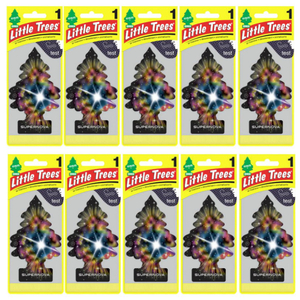 Little Trees リトルツリー エアフレッシュナー 釣り下げ式 芳香剤 スーパーノヴァ 10枚セット USDM