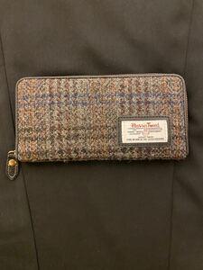 新品 美品 ハリスツイード 長財布 財布 チェック レディースウォレット Harris Tweed
