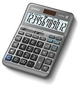 グレー デスク カシオ 軽減税率電卓 12桁 特許取得「税計算合計機能」搭載 卓上で使いやすいデスクタイプ DF-200RC-