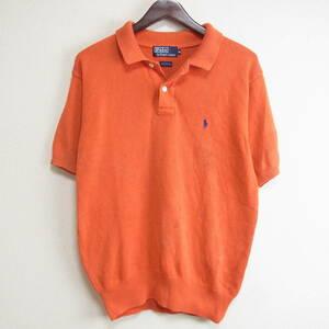 POLO RALPH LAUREN ポロ ラルフローレン ニット ポロシャツ オレンジ サイズ M