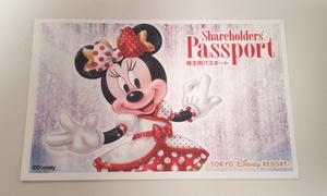 13262☆東京ディズニーリゾート ディズニーランド ディズニーシー 株主用パスポート 1枚