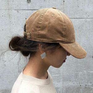 【新品】 ニューハッタン コーデュロイキャップ タン レディースメンズ兼用 帽子