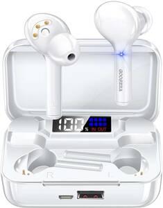 【送料無料】 ワイヤレスイヤホン 53 Bluetooth5.1IPX7完全防水 自動ペアリング LED電量表示 マイク内蔵 音量調節可能 左右分離型