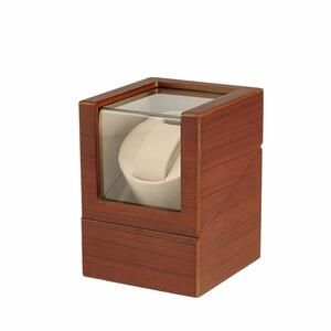 winding machine ( 1 pcs to coil ) watch Winder self-winding watch clock winding machine made in Japan ( Brown )
