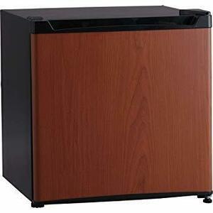 新品ダークウッド 46L アイリスプラザ 1ドア 冷蔵庫 46L 右開き (幅47cm) 木目調 ダークウッド PRQAJE