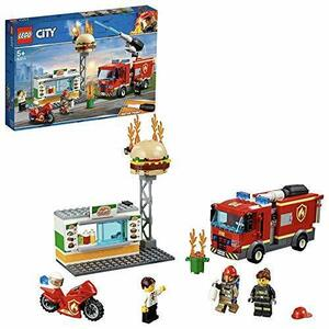 新品★本日限り★レゴ(LEGO) シティ ハンバーガーショップの火事 60214 ブロック おもちゃ 男の子 車47PC