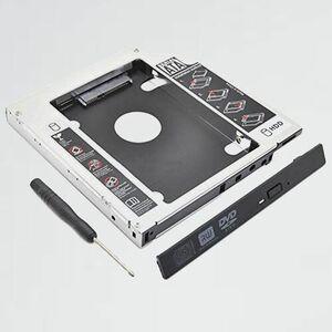 新品 未使用 He Ren X-KF 対応 12.7mm 2nd 2.5インチ HDD・SSD マウンタ 光学ドライブベイ用 SATA 3.0 ハ-ドディスクマウンタ