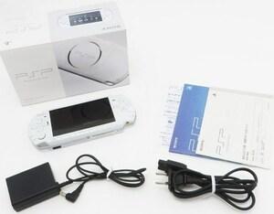◆返金保証!美品!画面傷なし!付属品完備!◆大容量新品バッテリー/2GBメモカ付き◆SONY ソニー PSP 本体 パール・ホワイト PSP-3000PW