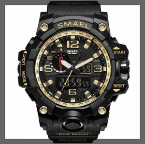 【※超特別価格1円から※】海外人気ブランド SMAEL S-SHOCK メンズ高品質腕時計 50M防水 アナログ&デジタル クォーツ 男性 紳士